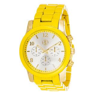 """Reloj """"Matte"""" Fortune NYC Amarillo"""