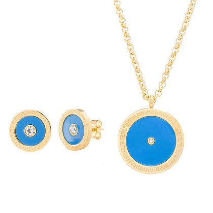 Set Dorado y Azul inspirado en Cartier