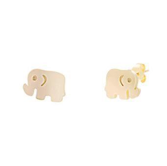 Aretes Dorados Elephant (Elefante)