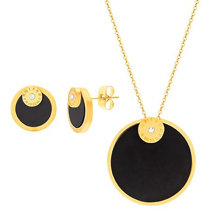 "Set Dorado y Negro ""Atlas"" Inspirado en Tiffany & Co."