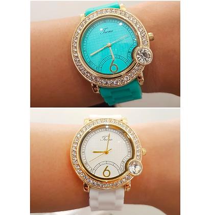 Reloj Dorado y Caucho