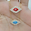 "Thumbnail: Cadena Dorada ""Evil Eye"" Azul Turquesa"