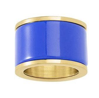 Anillo Dorado y Azul