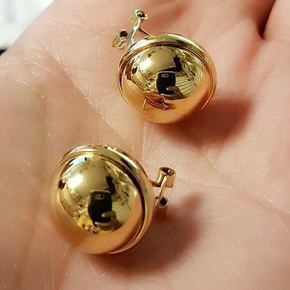Aretes Dorados Esferas