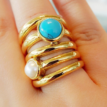 Anillo Dorado Multilayer