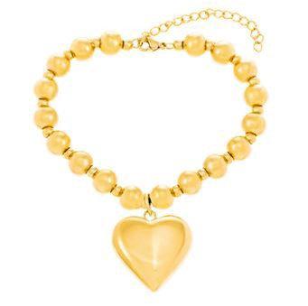 Brazalete Dorado y Corazón