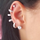 Thumbnail: Aretes Plateados y Circonias Tipo Ear Cuff