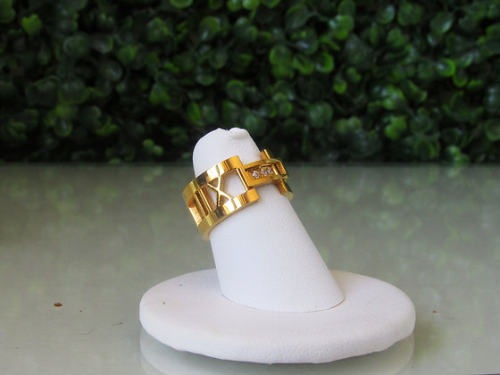 "Anillo Dorado ""Atlas"" Inspirado en Tiffany & Co."