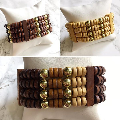 Brazalete Multilayer Madera