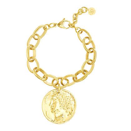 Brazalete Dorado y Medalla