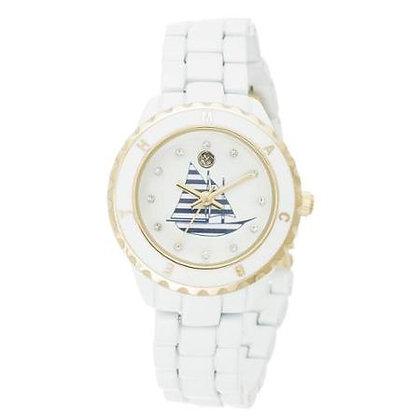 "Reloj ""Sailboat"" Macbeth Collection Blanco"
