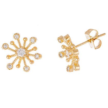 Aretes Dorados y Estrella (Star) Clear