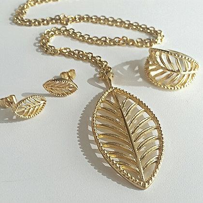 Set Dorado Tipo Leaf (Hoja)