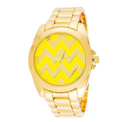 """Reloj """"ZigZag"""" Fortune NYC Amarillo"""