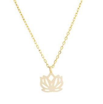 Cadena Dorada Lotus Flower (Flor de Loto)