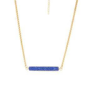 Cadena Dorada y Cristal Azul