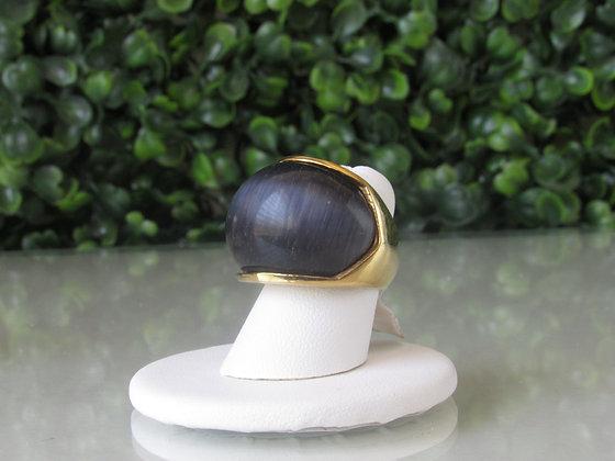 Anillo Dorado y Piedra Negra