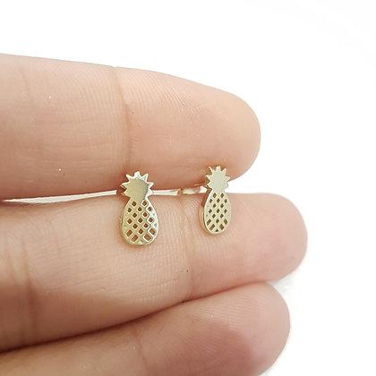 Aretes Dorados Pineapple (Piña)