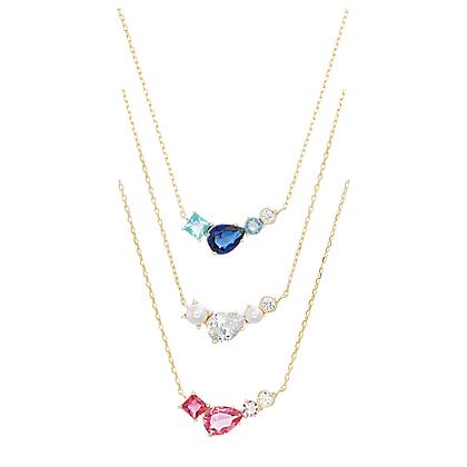 Cadena Dorada, Perlas y Circonias