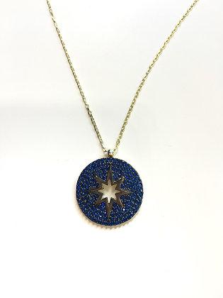 Cadena Dorada y Estrella (Star) Azul