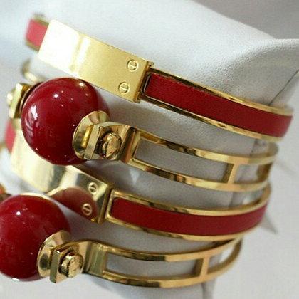 "Brazalete Rojo ""Love"" Inspirado en Cartier"
