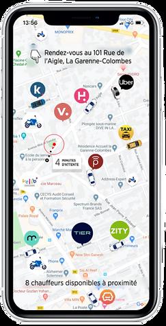 géolocalisation service de mobilité application search mobility