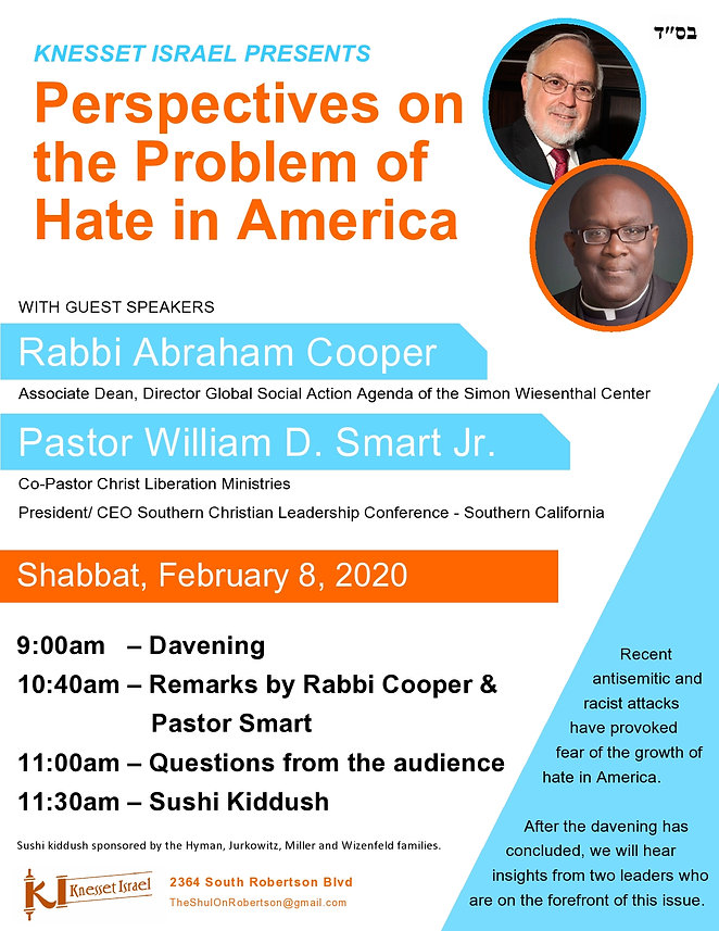 20200122 - Rabbi Cooper and Pastor Smart