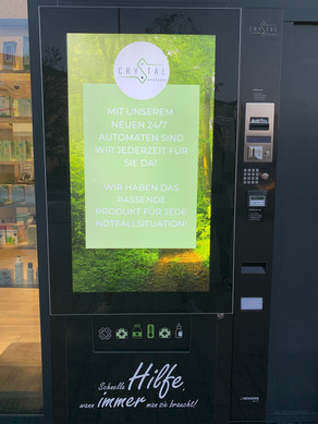 24/7 Automat | Frontansicht | Crystal Apotheke Rosenheim