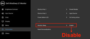 My Monitor Can Not Enter Power Save Mode