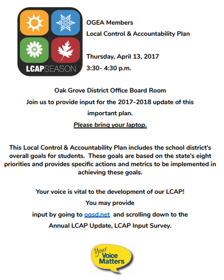 Cesar Chavez Day and OGSD LCAP Input