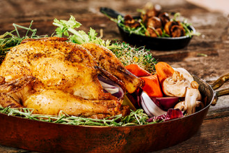 Hay Roasted Poultry Entree midwest food image