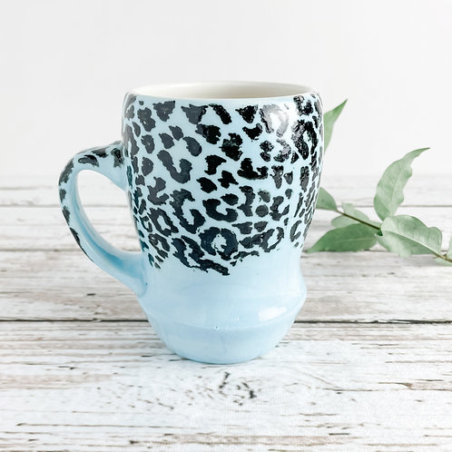 Light Blue Leopard Print Mug