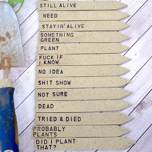 Custom Garden Markers | Set of 4 | Made-to-Order