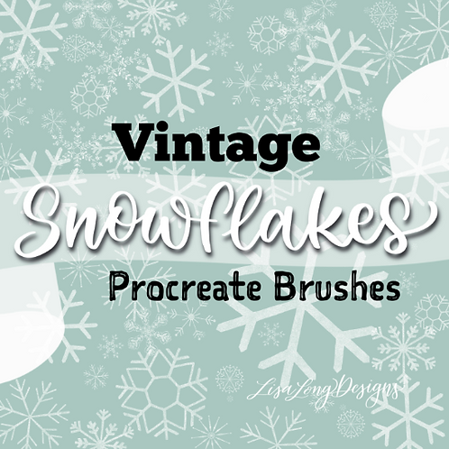 Vintage Snowflake Procreate Brushset