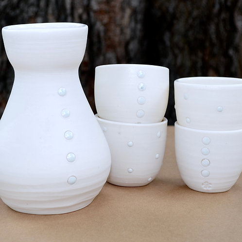 Sake Set | White Dots