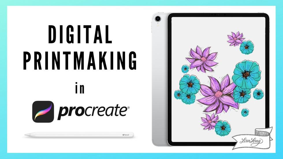 Digital Printmaking in Procreate