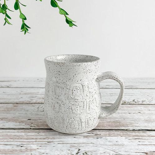 White Mug - Square Pattern