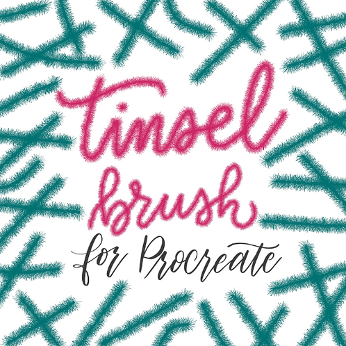 Tinsel Brush for Procreate