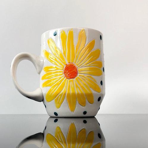 Daisies Mug | Blue Inside