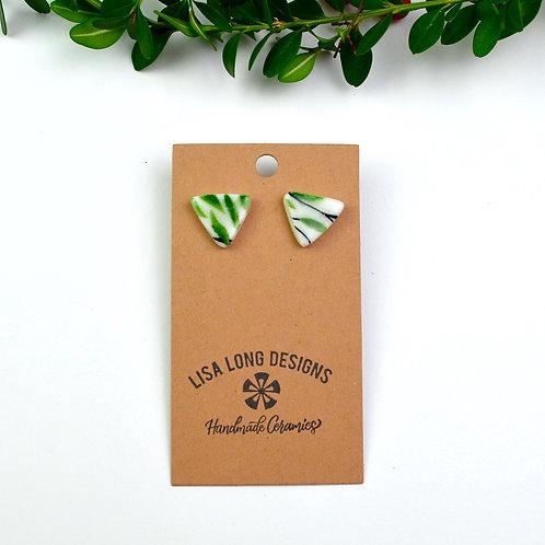 Triangle Leafy Studs