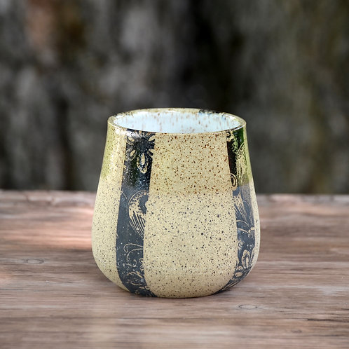 Black & White Speckled Tumblers