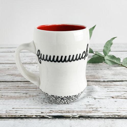 F Mug | Red Inside