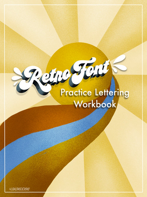 Retro Font Lettering Workbook