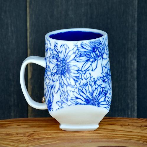 Blue Daisies Mug