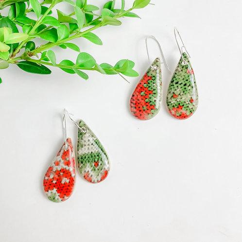 Christmas Sweater Earrings | Drop Hooks