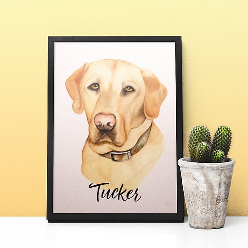 Pet Portrait Watercolor Painting | Made-to-Order