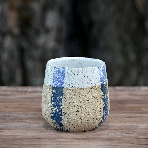 Blue & White Speckled Tumbler