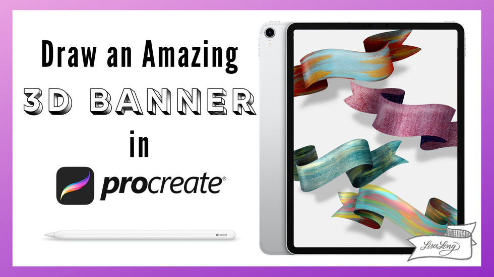 Draw a 3D Banner in Procreate