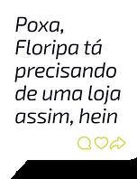 Balão de chat mostrando comentário de pessoa pedindo uma loja autônoma da Zaitt em Florianópolis, Santa Catarina