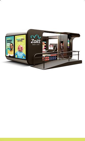 Uma das lojas autônomas modulares da Zaitt, a primeira smart store da América Latina